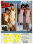 1986 Sears Spring Summer Catalog, Page 208