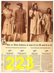 1942 Sears Spring Summer Catalog, Page 223