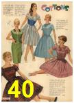 1960 Sears Spring Summer Catalog, Page 40