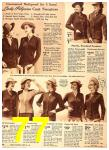 1940 Sears Fall Winter Catalog, Page 77
