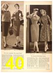 1958 Sears Spring Summer Catalog, Page 40
