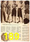 1949 Sears Spring Summer Catalog, Page 189