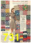1940 Sears Fall Winter Catalog, Page 731