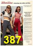1974 Sears Spring Summer Catalog, Page 387