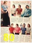 1940 Sears Fall Winter Catalog, Page 80