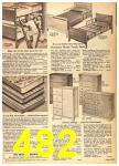 1962 Sears Fall Winter Catalog, Page 482