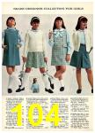 1965 Sears Fall Winter Catalog, Page 104