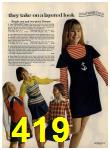1972 Sears Fall Winter Catalog, Page 419