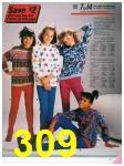 1986 Sears Fall Winter Catalog, Page 309