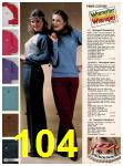 1982 Sears Fall Winter Catalog, Page 104