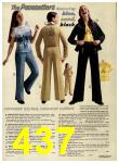1974 Sears Fall Winter Catalog, Page 437