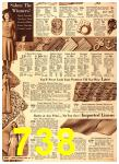 1940 Sears Fall Winter Catalog, Page 738