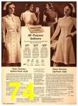 1942 Sears Spring Summer Catalog, Page 74