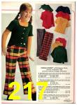 1973 Sears Fall Winter Catalog, Page 217