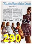 1972 Sears Spring Summer Catalog, Page 290