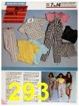1986 Sears Spring Summer Catalog, Page 293