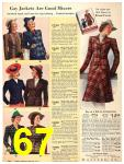 1940 Sears Fall Winter Catalog, Page 67