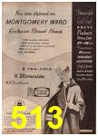 1962 Montgomery Ward Spring Summer Catalog, Page 513