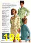 1969 Sears Spring Summer Catalog, Page 194