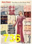 1940 Sears Fall Winter Catalog, Page 736