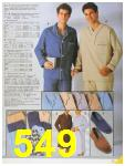 1986 Sears Fall Winter Catalog, Page 549