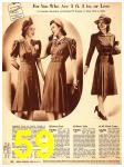 1940 Sears Fall Winter Catalog, Page 59