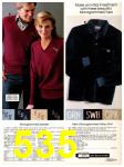 1982 Sears Fall Winter Catalog, Page 535