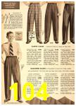 1949 Sears Spring Summer Catalog, Page 104