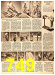 1956 Sears Fall Winter Catalog, Page 749