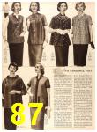 1956 Sears Fall Winter Catalog, Page 87