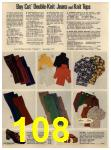 1972 Sears Fall Winter Catalog, Page 108