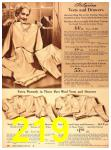 1940 Sears Fall Winter Catalog, Page 219