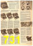 1956 Sears Fall Winter Catalog, Page 731