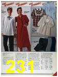 1986 Sears Fall Winter Catalog, Page 231