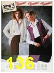 1985 Sears Fall Winter Catalog, Page 136