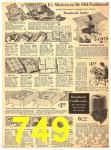 1940 Sears Fall Winter Catalog, Page 749