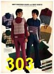 1973 Sears Fall Winter Catalog, Page 303