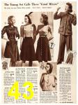 1940 Sears Fall Winter Catalog, Page 43
