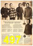 1958 Sears Fall Winter Catalog, Page 497