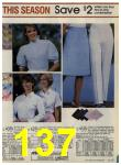 1984 Sears Spring Summer Catalog, Page 137