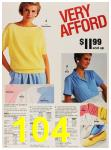 1987 Sears Spring Summer Catalog, Page 104