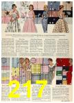 1958 Sears Spring Summer Catalog, Page 217