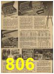 1962 Sears Spring Summer Catalog, Page 806