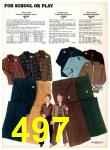 1977 Sears Fall Winter Catalog, Page 497