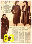 1940 Sears Fall Winter Catalog, Page 83