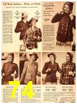 1940 Sears Fall Winter Catalog, Page 74