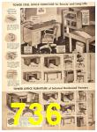 1956 Sears Fall Winter Catalog, Page 736
