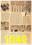 1958 Sears Spring Summer Catalog, Page 1040