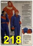1980 Sears Fall Winter Catalog, Page 218