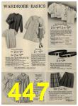 1972 Sears Fall Winter Catalog, Page 447